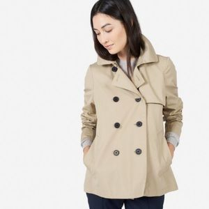 Everlane swing tan trench coat size small NWOT